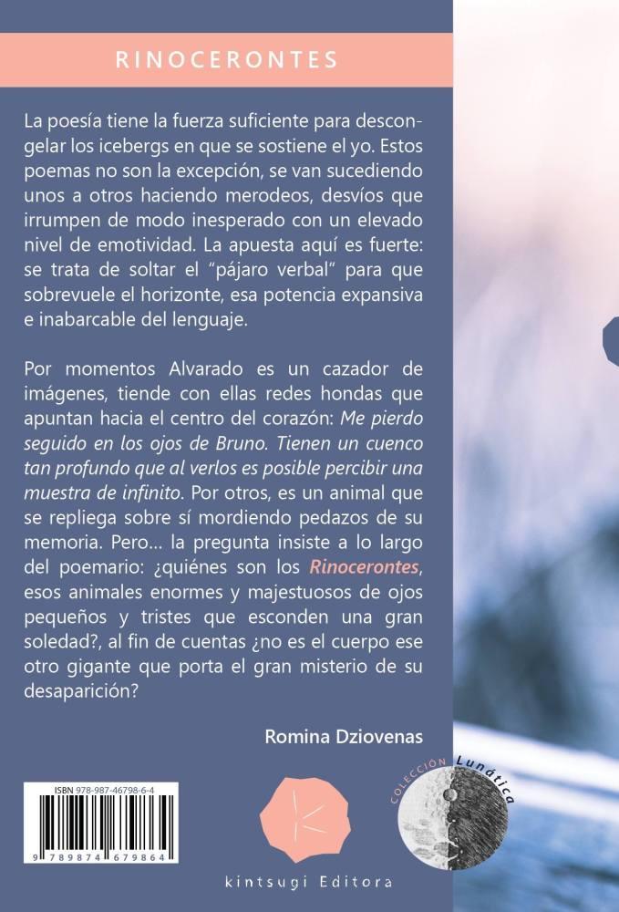 """Contratapa del libro """"Rinocerontes"""""""
