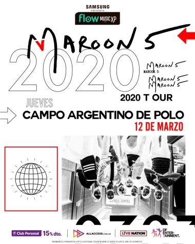Poster Gira Maroon 5