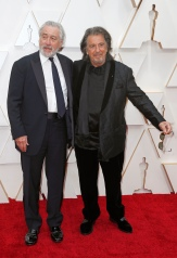 Robert De Niro and Al Pacino pose on the red carpet during the Oscars arrivals at the 92nd Academy Awards in Hollywood, Los Angeles, California, U.S., February 9, 2020. REUTERS/Eric Gaillard